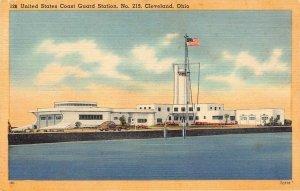 LPS34 CLEVELAND Ohio United States Coast Guard Station Postcard