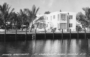 FL - Fort Lauderdale Beach. Mooney Apartments - RPPC