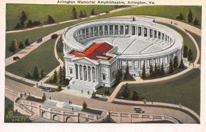 Arlington Memorial Amphitheater, Arlington, Virginia, Early Postcard, Unused