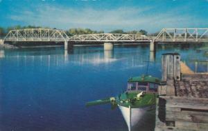 Bridge on Jemseg River,  Saint John,  N.B.,  Canada,  40-60s