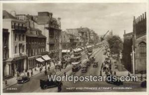 Scotland, Escocia West End Princes Street Edinburgh West End Princes Street P...