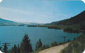 Beautiful Lake Kalamalka, Looking South, Okanagan-Cariboo Hwy, British Columb...