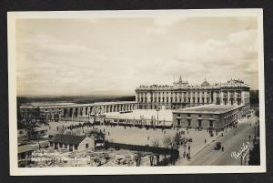 Armory Plaza & National Palace Madrid Spain unused c1920's