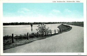 Postcard OK Oklahoma Lake Holdenville Curteich Blue Sky Unposted