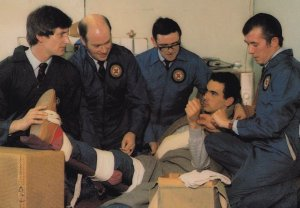 Glasgow Head Post Office First Aid 1980s Team RPC Postcard