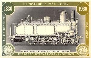 150 Years of Railway History, Bogie Engine by Societe St. Leonard, Belgium