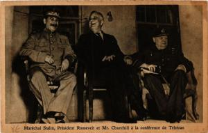 CPA Militaire - Stalin - Roosevelt - Churchill - Téhéran - Iran (697964)