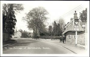 bucks, WHITCHURCH, Village Scene (1950s) RPPC