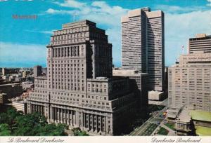 Canada Quebec Montreal Dorchester Boulevard Showing Sun Life Building