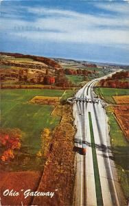 Pennsylvania Turnpike World's Greatest Highway Ohio Gateway, auto truck 1961
