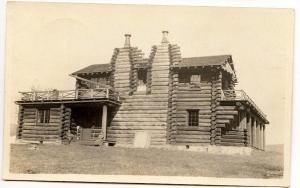 Mt Tabor VT Clark Hunting Lodge 1916 View RPPC Real Photo Postcard