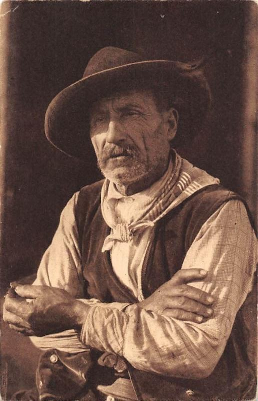 Type de berger, A. Tomasi, Art, Ajaccio, Western motif, Old Man Cowboys
