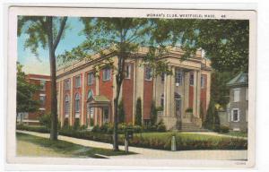 Woman's Club Westfield Massachusetts postcard