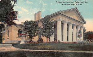 Arlington Mansion, Virginia, Home of Robert E. Lee, Early Postcard, unused