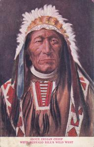 Sioux Indian Chief with Buffalo Bill's Wild West show , 00-10s