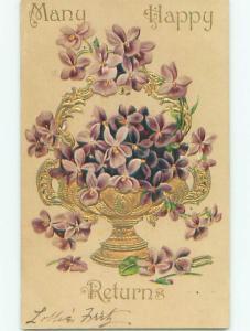 Divided-Back BEAUTIFUL FLOWERS SCENE Great Postcard AA3827