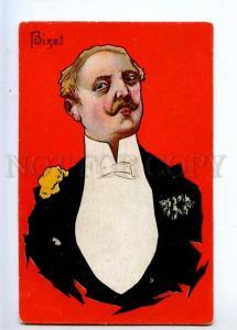 233212 BIZET Caricature Vintage Colorful postcard