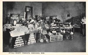 Kosciusko Mississippi Attala County Products Antique Postcard J71284