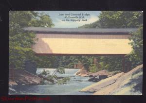 MCCONNELS MILL SLIPPERY ROCK RIVER PENNSYLVANIA COVERED BRIDGE PA. POSTCARD