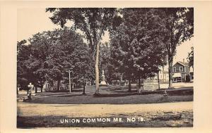 Union Common ME Storefront  Monument Park Bandstand RPPC Postcard