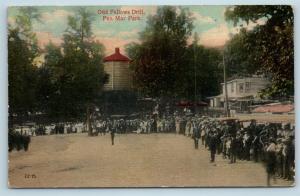 Postcard MD Pen Mar Park Odd Fellows Drill 1914 View S14