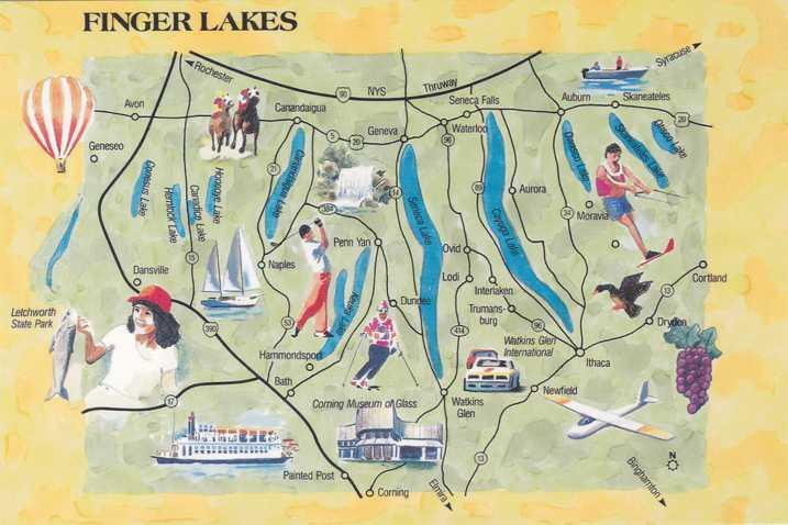 Map of the Finger Lakes Region of New York State
