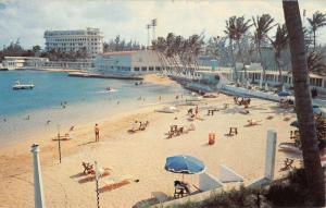 San Juan Puerto Rico Escambron Beach Club Birdseye View Vintage Postcard K88783