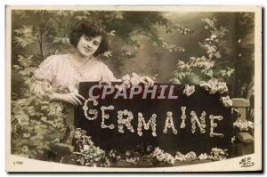 Old Postcard Fancy Germaine Surname