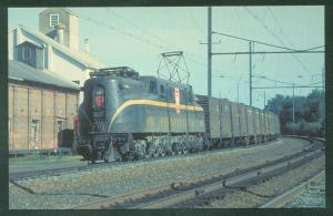 Pennsylvania GG1 Leaman Place Junction PA Brunswick Green Train RR Postcard