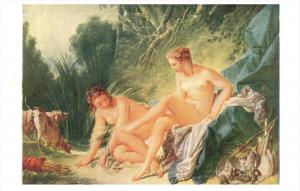 Painting by Francois Boucher Diana NUDE Women  Leaving the Bath