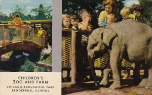 Elephants Baby Elephant Children's Zoo and Farm Chicago Zoological Park Brook...