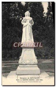 Old Postcard Marquise de Sevigne Mary Rabutin Chantal statue inaugurated in W...
