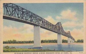 $3,100,000.00 Highway Bridge Across Mississippi River At Cairo, Illinois, PU-...