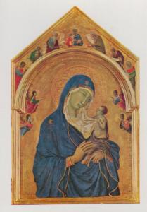 Duccio The Virgin & The Child With Saints National Gallery Painting Postcard
