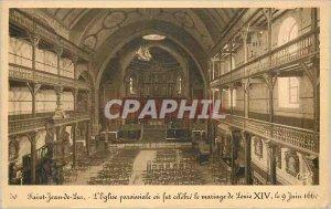 Old Postcard Saint Jean de Luz Church Parish