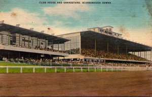 Maine Scarborough Downs Club House and Grandstand