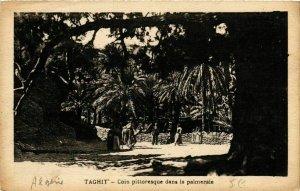 CPA AK Taghit Coin pittoresque dans la palmeraie ALGERIE (749090)