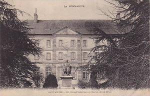Sous-Prefecture Et Statue De Le Brun, Coutances (Manche), France, 1900-1910s