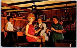 Duluth, Minnesota Postcard THE VENTURE: Main Floor Lounge Bar c1960s Unused