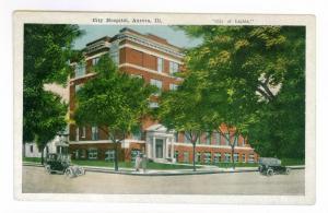 City Hospital, Aurora, Illinois unused Kropp Postcard