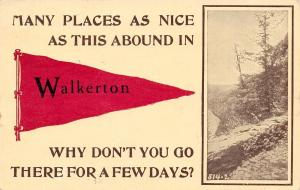Nice Places Abound in Walkerton Indiana~Bluff Scene~1912 Pennant Postcard