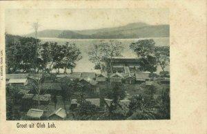 indonesia, SUMATRA, OLEH-LEH, Aceh Atjeh, Houses with Wharf (1899) Postcard