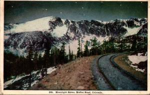 Colorado Moffat Road Moonlight Scene 1908