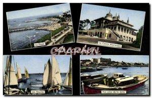 Modern Postcard Arcachon Cote D & # 39Argent Beach Casino Moorish regattas Th...