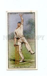166949 George MACAULAY English cricketer who played cricket