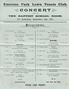 Emerson Park Hornchurch Romford Lawn Tennis Club Magic Opera Concert Ephemera