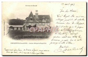 Old Postcard Cricqueville en Auge Abbey Royal Pre