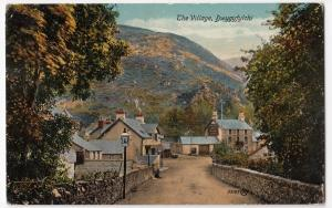 Conway; The Village, Dwygyfylchi PPC, c 1913, To Master Flynn, Lancing College