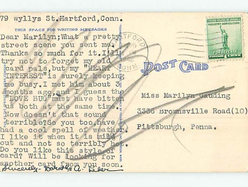 Linen FOUR SCENES ON ONE POSTCARD Springfield Massachusetts MA HM9659