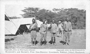 Africa President Roosevelt Gun Bearers in Camp Antique Postcard J2531235